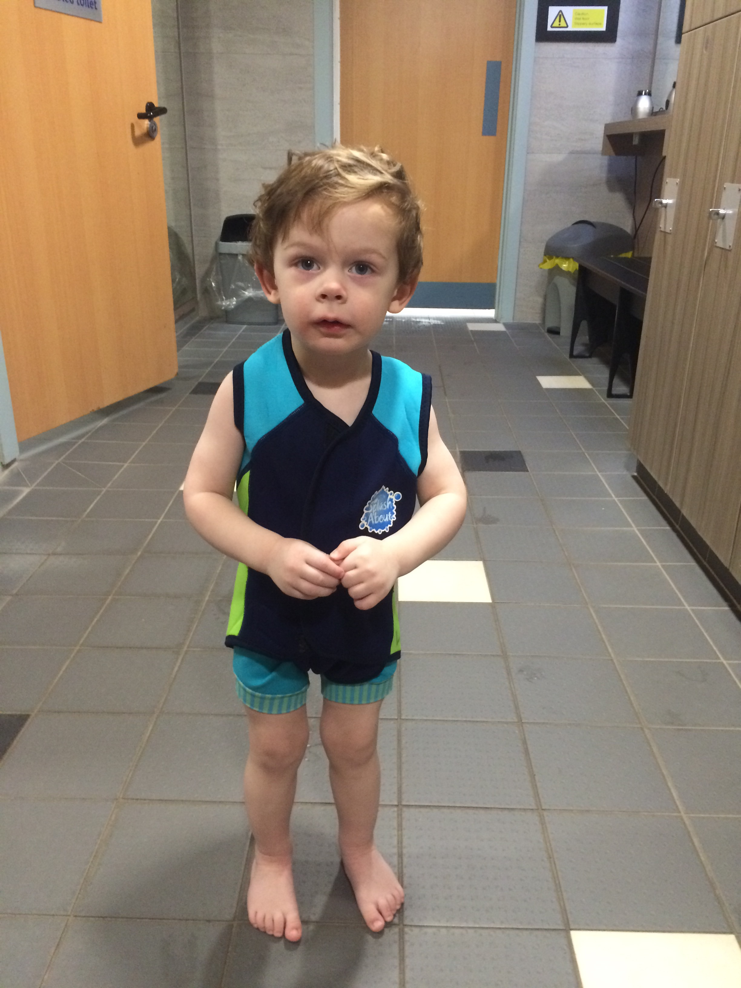 G's First Swimming Lesson