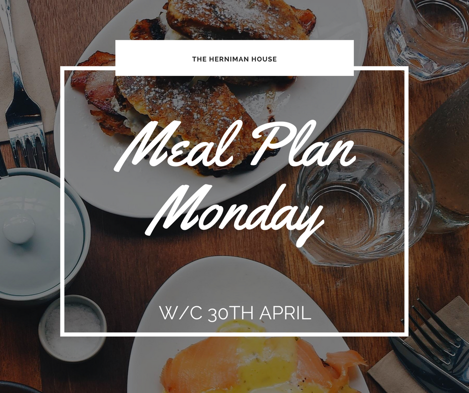 Meal Planning Monday w/c 5th November 2018